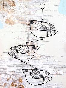 Dekorácie - Ptáčkový závěs - 10268203_