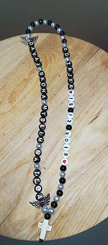 Iné šperky - Prívesok alebo amulet do auta na želanie s textom menom alebo dátumom aj farebne podla vašeho priania - 10271264_