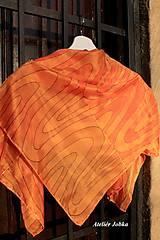 Šatky - Hedvábný šátek Zebra v zářivých barvách - 10270740_