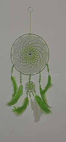 Dekorácie - Zelený lapač snov - 10271021_