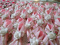 vintage svadobné pierka v ružovom II.
