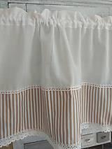 Úžitkový textil - Záclonka  pásiky - 10270376_