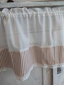 Úžitkový textil - Záclonka  pásiky - 10270371_