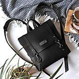 Batohy - Kožený batoh Ruby (čierny) - 10271239_