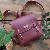 Batohy - Kožený batoh Ruby (bordový) - 10271242_