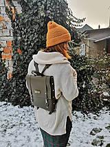 Batohy - Kožený batoh Ruby (smaragdovo-zelený) - 10271258_