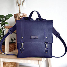 Batohy - Kožený batoh Ruby (fialový) - 10271248_