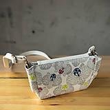 Kabelky - Kabelka CUTE bag - biela so šedou potlačou na tele - 10270876_