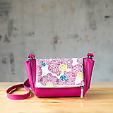 Kabelky - CUTE bag - ružová s ružovou potlačou na klope - 10270919_