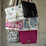 Kabelky - DINKY bag - ružovo biela potlač, pozitív - negatív - 10271001_