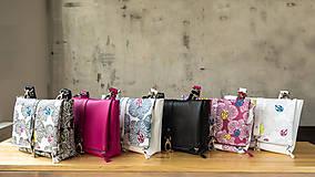 Kabelky - DINKY bag - ružovo biela potlač, pozitív - negatív - 10271005_
