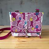 Kabelky - DINKY bag - ružovo biela potlač, pozitív - negatív - 10271006_