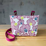 Kabelky - DINKY bag - ružovo biela potlač, pozitív - negatív - 10271007_