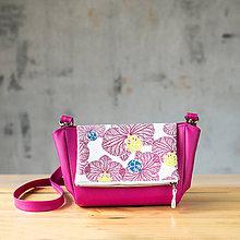 Kabelky - Kabelka CUTE bag - ružová s ružovou potlačou na klope - 10270919_