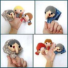 Hračky - Sada maňušiek na prst - Rozprávka O medovníkovom domčeku - na objednávku - 10269675_