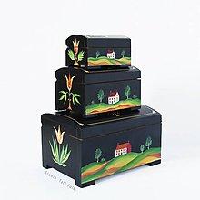 Krabičky - Ručne maľovaná truhlička Jonas Weber - 10270130_