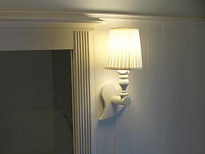 Svietidlá a sviečky - Nástenná lampa srdiečko - 10270193_