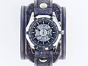 Náramky - Štýlové pánske hodinky, vintage čierna - 10271054_