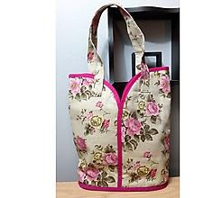 Veľké tašky - Prekrásna eko taška pre všetky ženy, teenegerky a dievčatá (Ružičková II., veľkosť XL) - 10270958_