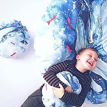 Textil - Maxi vankúš veľryba + 2 malé vankúšiky - 10270873_