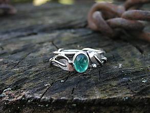 Prstene - Strieborny prsteň Ag 925 Apatit - 10270062_