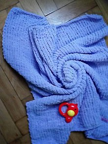 Textil - Levanduľova detská deka - 10270111_