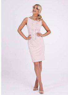 Šaty - Dámske púzdrové šaty púdrovej farby - 10269621_