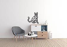 - Kovová geometrická nástenka / dekorácia KITTY  - 10273357_