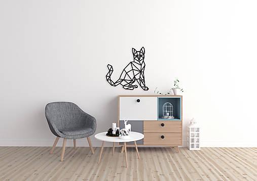 Kovová geometrická nástenka / dekorácia KITTY