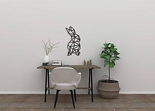 Dekorácie - Kovová geometrická nástenka / dekorácia BUNNY - 10273341_