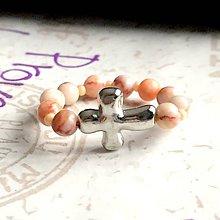 Prstene - Elastic Rosary Jasper Antique Silver Ring / Elastický prsteň - ruženec tkaný jaspis, starostriebro /1391 - 10272584_