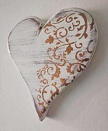 Dekorácie - Srdce - bronz - 10273458_