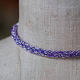 Spletenec - náramok (fialový)