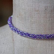 Náramky - Spletenec - náramok (fialový) - 10273899_