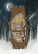 Obrazy - Zimný zajačik  / reprodukcia mojej digitalnej malby  - 10271936_