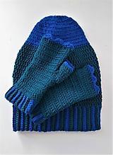 Set čiapka homeless, rukavice - čarodejnica
