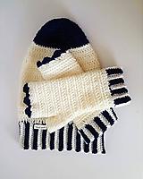 Set čiapka homeless, rukavice - Snehová kráľovná