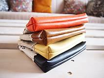 Taštičky - Kozmetická taška veľká režná - líšky s oranžovou - 10273476_
