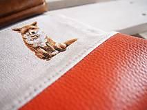 Taštičky - Kozmetická taška veľká režná - líšky s oranžovou - 10273478_