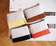 Taštičky - Kozmetická taška veľká režná - líšky s oranžovou - 10273479_