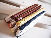 Taštičky - Kozmetická taška veľká režná - líšky s oranžovou - 10273480_