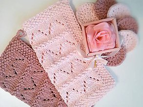 Úžitkový textil - Sada do kúpelne -  light ružová + staroružová - 10272877_
