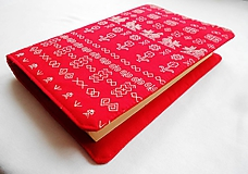- Obal na knihu - Čičmany (červené) - 10272000_