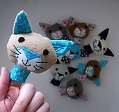 Prstová maňuška mačička - na výber