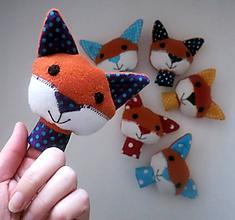 Hračky - Prstová maňuška líštička - na výber - 10273070_