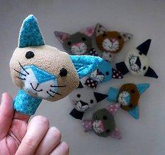 Hračky - Prstová maňuška mačička - na výber - 10273849_