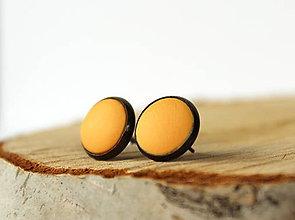 Náušnice - ZĽAVA 50% | Jednoduché pastelové napichovačky (žlté) - 10272448_
