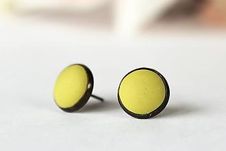 Náušnice - ZĽAVA 50% | Jednoduché pastelové napichovačky (zelené) - 10272897_