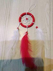 Dekorácie - Malý červeno biely lapac - 10272596_