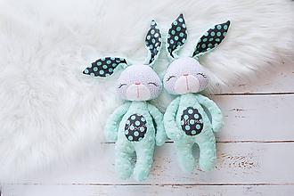 Hračky - Zajačik mentolovo-šedý - 10272233_